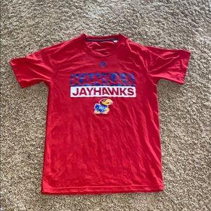Adidas Kansas Jayhawks athletic shirt